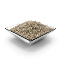 Square Bowl with Peeled Sunflower Seeds PNG & PSD Images