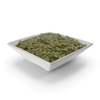 Square Bowl With Peeled Pumpkin Seeds PNG & PSD Images