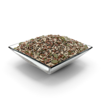 Square Bowl With Mixed Healthy Seeds PNG & PSD Images