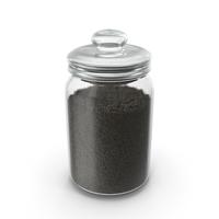 Jar with Black Sesame Seeds PNG & PSD Images