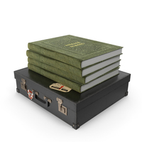 Suitcase with Books PNG & PSD Images