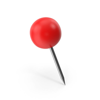 Red Push Pin Sphere PNG & PSD Images