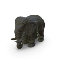 Elephant Statue Marble PNG & PSD Images