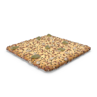 Square Cracker With Mixed Healthy Seeds PNG & PSD Images