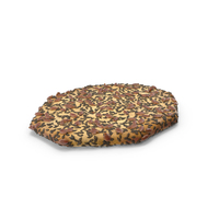 Octagon Cracker With Black Sesame And Flax Seeds PNG & PSD Images