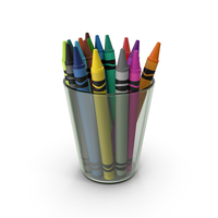 Crayons In Glass Cup PNG & PSD Images