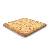 Square Cracker With Spicy Seasoning PNG & PSD Images