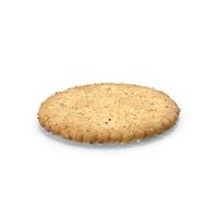 Circular Cracker with Seasoning PNG & PSD Images