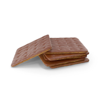 Small Pile of Chocolate Covered Square Crackers PNG & PSD Images