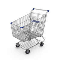 Shopping Сart with Blue Plastic PNG & PSD Images