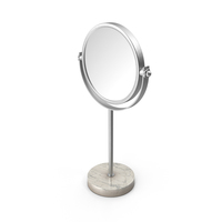 Silver Marble Stand Up Mirror PNG & PSD Images