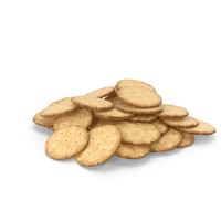 Pile of Circular Crackers PNG & PSD Images