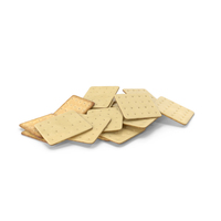 Pile of White Chocolate Covered Square Crackers PNG & PSD Images