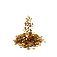 Pile of Gold coins Bitcoin PNG & PSD Images