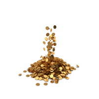 Pile of Gold Coins Euro PNG & PSD Images