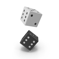 Black and White Dice PNG & PSD Images