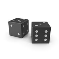 Black Playing Dice PNG & PSD Images