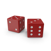Red Playing Dice PNG & PSD Images