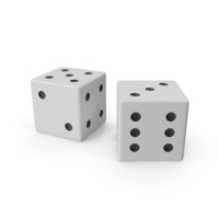 White Playing Dice PNG & PSD Images