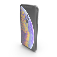iPhone XS Silver PNG & PSD Images