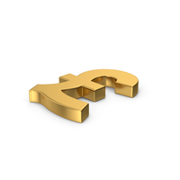 Gold Pound Sterling PNG & PSD Images
