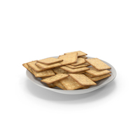 Plate with Square Crackers PNG & PSD Images