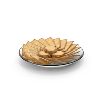 Plate with Organised Crackers PNG & PSD Images