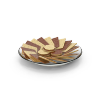 Plate with Organised Chocolate Covered Crackers PNG & PSD Images