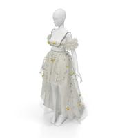 Giambattista Valli 2018 Spring Flower Dress PNG & PSD Images