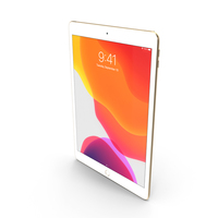 Apple iPad 7 10.2 2019 Gold PNG & PSD Images