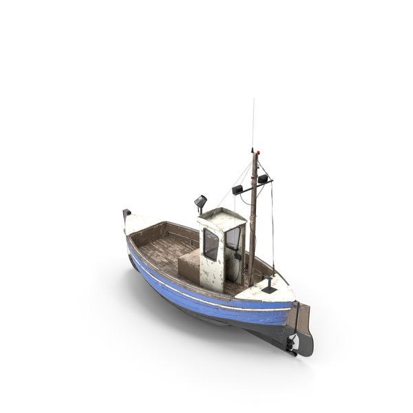Old Fishing Boat PNG & PSD Images