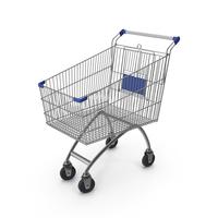 Supermarket Сart with Blue Plastic PNG & PSD Images