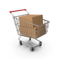 Shopping Cart with Boxes PNG & PSD Images