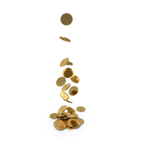 Falling Coins PNG & PSD Images