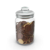 Jar with Chocolate Covered Circular Crackers PNG & PSD Images