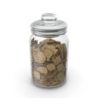 Jar with Mini Rhombus Crackers with Sesame and Poppy Seeds PNG & PSD Images