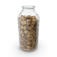 Octagon Jar with Spicy Seasoned Mini Rhombus Crackers PNG & PSD Images