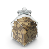 Square Jar with Square Crackers PNG & PSD Images