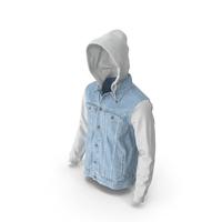 Men's Jean Jacket Light Blue White PNG & PSD Images