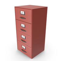 Filing Cabinet Drawer Red PNG & PSD Images