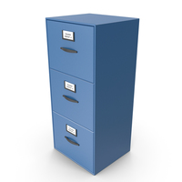 Filing Cabinet Drawer Blue PNG & PSD Images