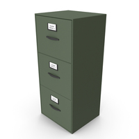 Filing Cabinet Drawer Green PNG & PSD Images