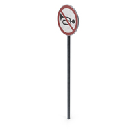Traffic Sign No Horn With Pole PNG & PSD Images
