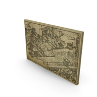 Asian Art Etching PNG & PSD Images