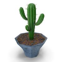 Cactus Blue Candle Single Pot PNG & PSD Images