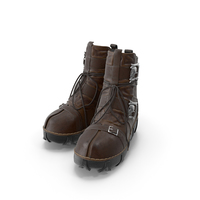 Brown Gothic Boots PNG & PSD Images