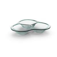 Glass Compartment Round Bowl PNG & PSD Images