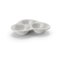Porcelain Compartment Round Bowl PNG & PSD Images