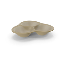 Plastic 3 Compartment Round Bowl PNG & PSD Images