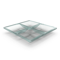 Glass 4 Compartment Bowl PNG & PSD Images